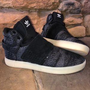 Adidas Tubular Invader Strap - Black/Crystal White